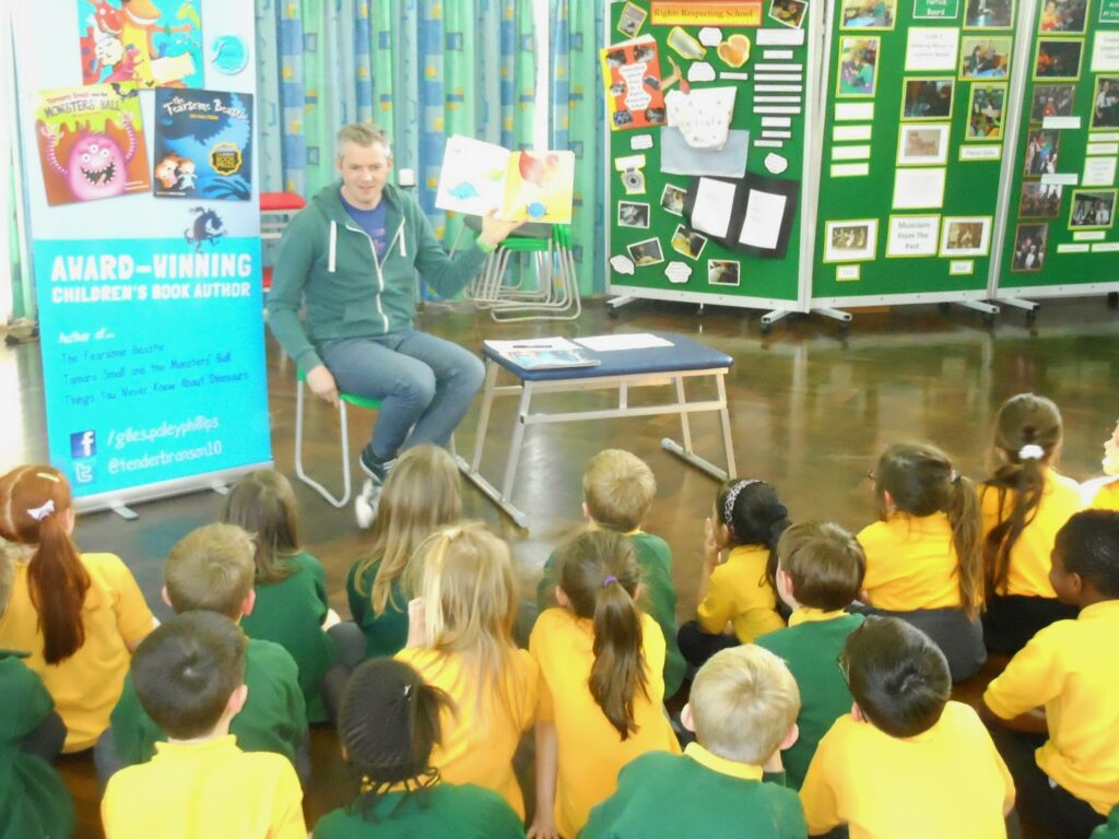 Books2All Q&A - Giles Paley-Phillips on one of his school visits