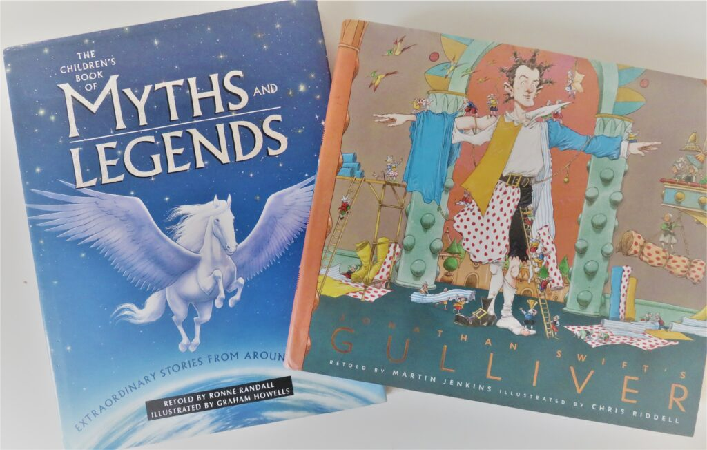 Books2All blog childhood books - The Children's Book of Myths and Legends by Ronne Randall & Graham Howells