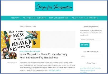 Books2All blog: Reading widely sparks the imagination by Kate Heap.  Scope for Imagination blog.
